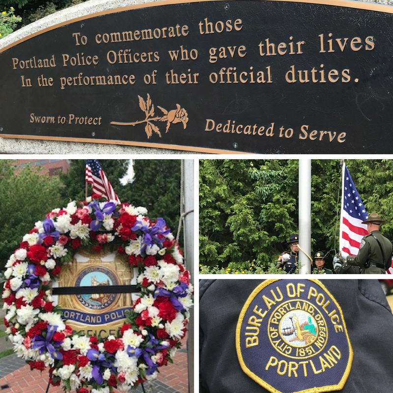 Portland Police Memorial 2018